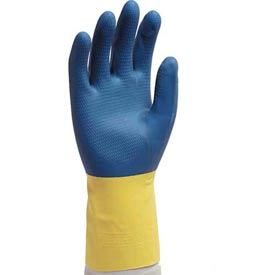 Gloves Blue Neoprene over Latex