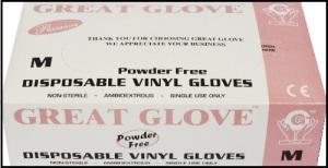 Guante de Vinyl PF GG Premium, ESC-GVPF3