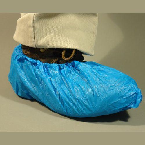Cubrezapatos de Copolimero azul, Antiderrapante, XL, c/50 pares