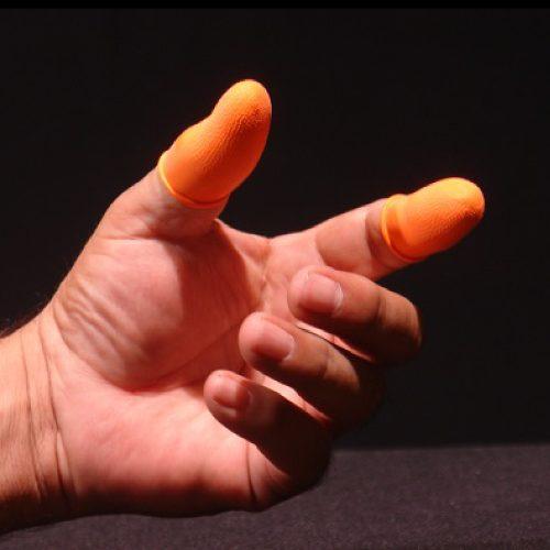 Dedal de latex para uso pesado, XP, naranja, c/300 pzs
