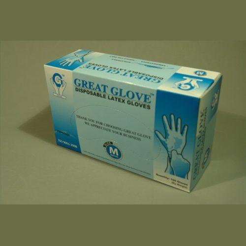 Guante de Latex Bajo en Polvo, Standard, uso Industrial, c/100 pzs