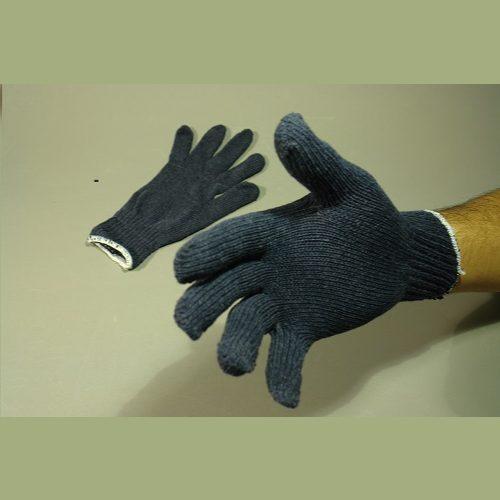 Guante de Algodón tipo Japones para caballero, Azul, peso medio, Par