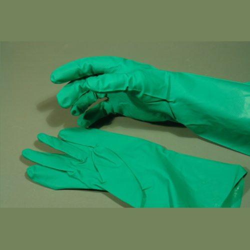 Guante de Nitrilo de 12″, verde, 11 mils, par
