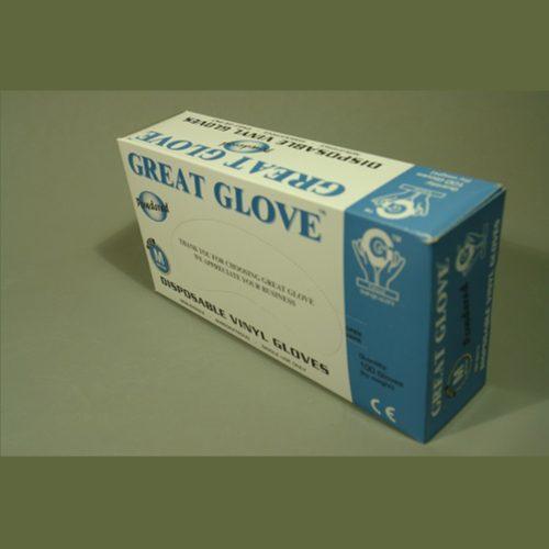 Guante de Vinyl Bajo en Polvo, GG Standard, c/100 pzs