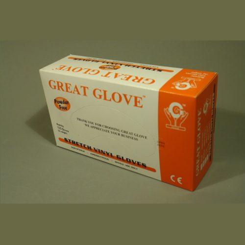 Guante de Vinyl Libre de Polvo, GG Stretch, c/100 pzs