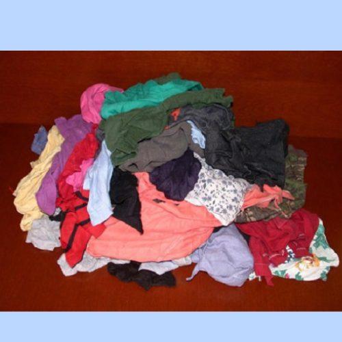 Trapo Industrial (recorte de camiseta) multicolor, bulto con 25 kg