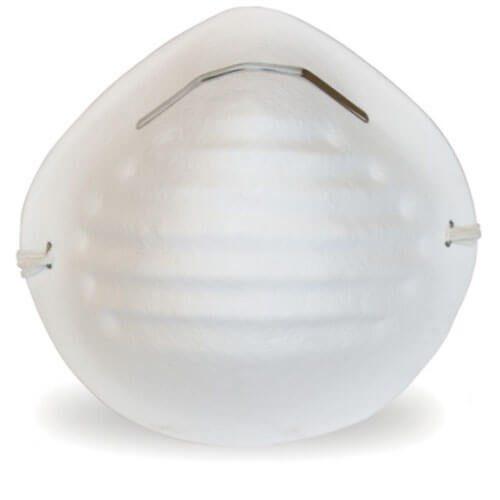 Cubrebocas tipo concha, blanco, con 50 pzs