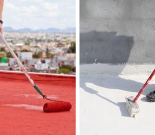 ¿Cuál es la diferencia entre el impermeabilizante rojo y el blanco?